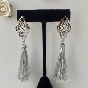 Jewelry - NEW SILVER TASSLE FUN EARRINGS